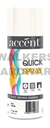 QUICKSPRAY FLAT WHITE 310G ACCENT