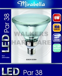 GLOBE SINGLE GLASS PAR 38 LED ES 6W