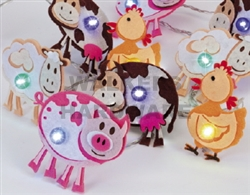 LIGHT LED STRING FARM ANIMALS