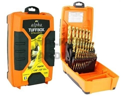 DRILL BIT SET 29PCE IMPERIAL ALPHA TUFFBOX