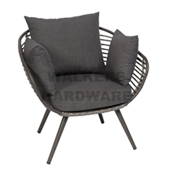 CHAIR STEEL WITH CUSHION NOOSA