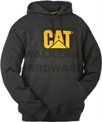 SWEATSHIRT/JUMPER HOODED MED BLACK CATERPILLAR