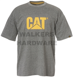 TEE SHIRT CAT TM LOGO GREY XLARGE CATERPILLAR