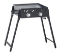 BBQ 2 BURNER SOLID PLATE WITH FOLDING LEGS