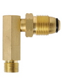 GAS ADAPTOR - RIGHT ANGLE MALE POL X M 3/8 LH