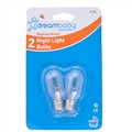 NIGHT LIGHT GLOBES 7 WATT PK2 (DREAM BABY)