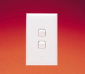 SWITCH 10A ARCHITRAVE 2 GANG WH BAGGED