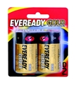 BATTERY - EVEREADY LONG LIFE GOLD D PK2 A95BP2