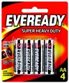 BATTERY S/H/DUTY BLK AAX4