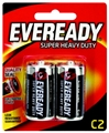 BATTERY - EVEREADY SUPER H/D BLACK C PK2 1235BP2