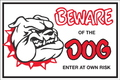 SIGN BEWARE/DOG          BLK/RED/WHT 300X200MM