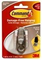 HOOK COMMAND CLASSIC SMALL BRUSHED NICKEL