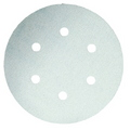 DISC SANDING ORB 150MM / 6 HOLE WHITE 240G PK5