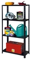 SHELF UNIT 4 SHELF POWDER COATED 60KG BLACK