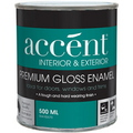 ACCENT GLOSS ENAMEL WHITE 500ML