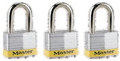 PADLOCK LAMINATED 51MM KEYED ALIKE 3PK 5 TRI