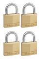 PADLOCK MASTER BRASS 40MM PK4