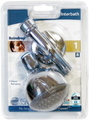 SHOWERHEAD 45DEG ARM RAINDROP CHR