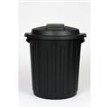 BIN RUBBISH DOME BLACK 75L