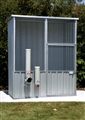CHICKEN COOP WITH FEEDER 1.52X78X1.8M ZINC