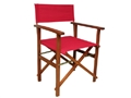 CHAIR DIRECTOR TIMBER RED
