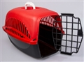 CARRIER PET HOUSE PP RED W/HANDLE