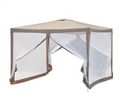 GAZEBO WITH ZIP UP NET 2.9M X 2.9M