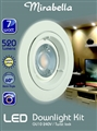 DOWNLIGHT FIXED WHITE LED GU10 7W 520LM