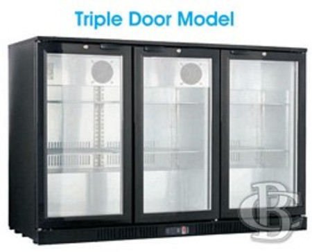 Triple Door Alfresco Bar Fridge Black