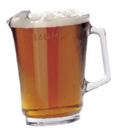 beer jug 1140ml glass home brewing glasses and jugs brewcraft