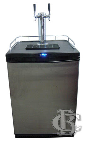 KEGERATOR FRIDGE DOUBLE FONT FULL SYSTEM
