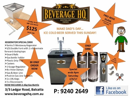 KEGERATOR SPECIAL: Westaway Series 5, Double Font Full System