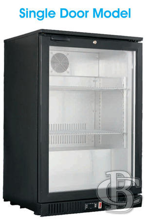 Single Door Alfresco Bar Fridge Silver