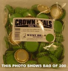Crown Seal DUO GREEN - Box of 10,000