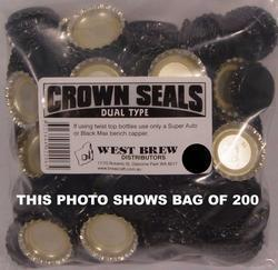 Crown Seal DUO BLACK - Packet of 100