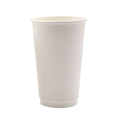 Coffee Cup Double Wall White 16oz - 500 per box (Prev  2355