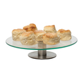 Cake Stand Glass S/S Base - 300mm CLEARANCE (Prev. 1459)