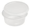 Clear Plastic Round Sauce Container 70ml, 1000 Per Pack (Lid sold separately) (Prev. 2070)