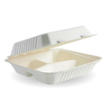 Clamshell 3 Compartment White 228 x 228 x 76mm - 200 Per Carton (Prev. 2493)
