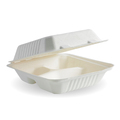 Clamshell 3 Compartment White 198 x 203 x 76mm - 200 Per Carton (Prev. 2472)