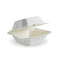 Clamshell 1 Compartment White 152 x 152 x 76mm - 500 Per Carton (Prev. 2468)