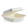 Clamshell 1 Compartment White 228 x 228 x 76mm - 200 Per Carton (Prev. CU2051)