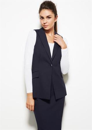 cda908436524e  Biz Corporate  Comfort Wool Stretch Ladies Longline Sleeveless Jacket