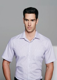'AP Business' Mens Henley Short Sleeve Shirt