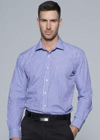 'AP Business' Mens Epsom Modern Check Long Sleeve Shirt