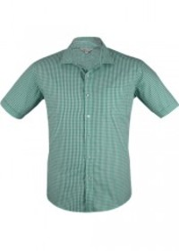 'AP Business' Mens Epsom Modern Check Short Sleeve Shirt
