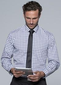 'AP Business' Mens Devonport Modern Check Long Sleeve Shirt