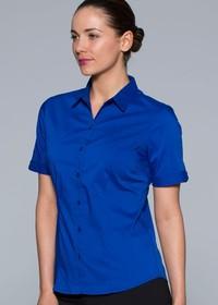 'AP Business' Ladies Mosman Short Sleeve Shirt