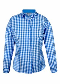 'AP Business' Ladies Devonport Modern Check Long Sleeve Shirt