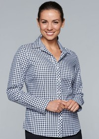 'AP Business' Ladies Brighton Long Sleeve Shirt